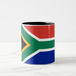 De vlagmok van Zuid-Afrika Tweekleurige Koffiemok