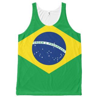 De vlagontwerp van Brazilië All-Over-Print Tank Top