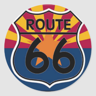 De vlagRoute 66 van Arizona Ronde Sticker