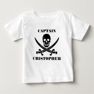 De vlagschedel van de piraat baby t shirts