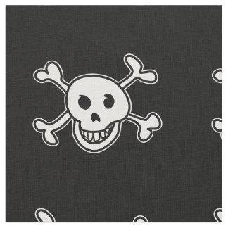 De vlagschedel van de piraat en van het gekruiste stof