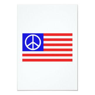De vlagvrede van de V.S. 8,9x12,7 Uitnodiging Kaart