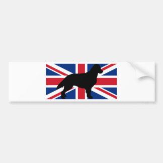 de vlak met een laag bedekte vlag van het bumpersticker
