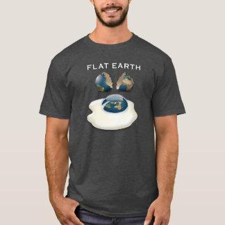 """De vlakke Aarde """"barstte"""" Donkere T-shirt met"""