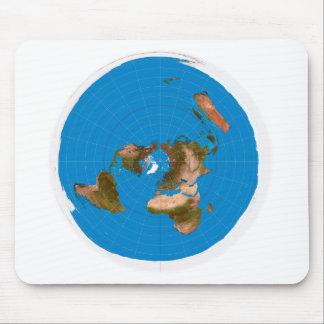 De vlakke Kaart van de Aarde - Azimutale Muismat