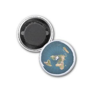 De vlakke Kaart van VE van de Aarde Azimutale om Magneet