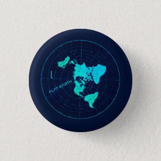 De vlakke Speld van de Aarde Ronde Button 3,2 Cm