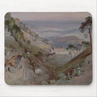 De vlaktes, Landour Kerk, Mussoorie, 1884 Muismat