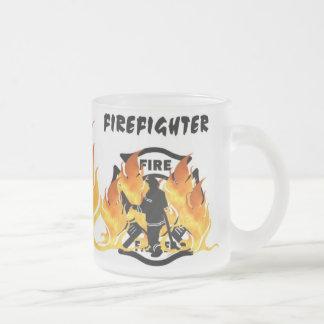 De Vlammen van de brand Afd. Matglas Koffiemok
