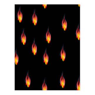 De vlammen van de brand briefkaart