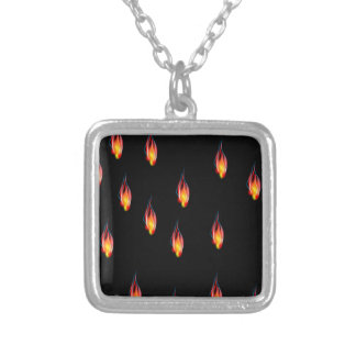 De vlammen van de brand zilver vergulden ketting