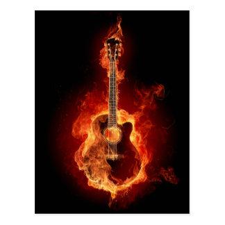 De Vlammen van de gitaar Briefkaart