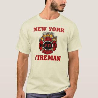 De Vlammen van het Symbool van de Brandweerman van T Shirt