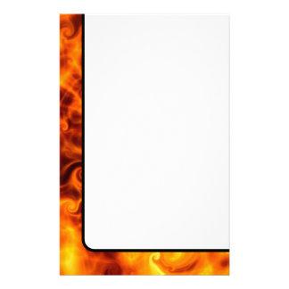 De Vlammen van Swirly Briefpapier