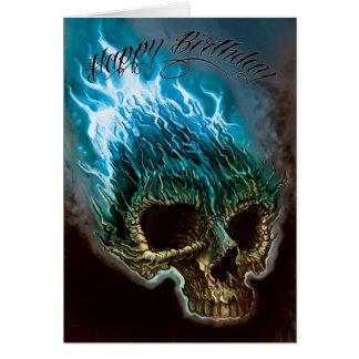 De vlammende Verjaardag van de Schedel Briefkaarten 0