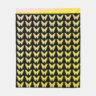 De Vlieg Free_Golden_Fleece_Blanket-M van vlinders Fleece Deken