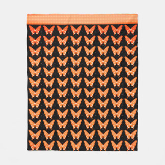De Vlieg Free_Orangy_Fleece_Blanket-M van vlinders Fleece Deken