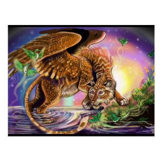 De Vliegende Kat van de Jager van de schemer Briefkaart