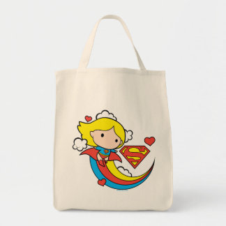 De Vliegende Regenboog van Supergirl van Chibi Boodschappen Draagtas