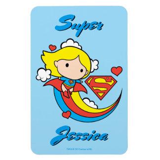De Vliegende Regenboog van Supergirl van Chibi Flexibele Magneet
