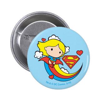 De Vliegende Regenboog van Supergirl van Chibi Ronde Button 5,7 Cm