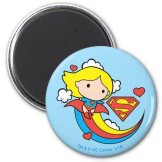 De Vliegende Regenboog van Supergirl van Chibi Ronde Magneet 5,7 Cm