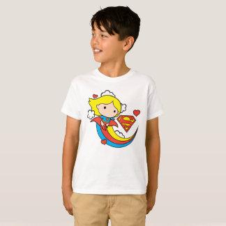 De Vliegende Regenboog van Supergirl van Chibi T Shirt