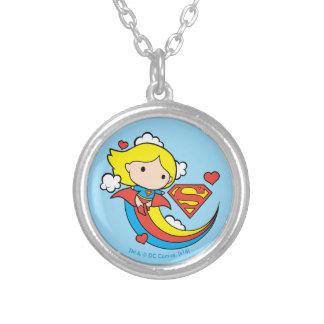 De Vliegende Regenboog van Supergirl van Chibi Zilver Vergulden Ketting