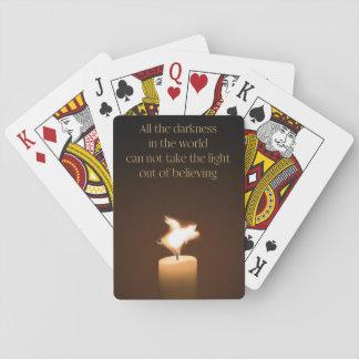 De vliegende Speelkaarten van de Vlam van de Kaars