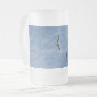 De vliegende Zeemeeuwen berijpten 16 de oz Matglas Bierpul