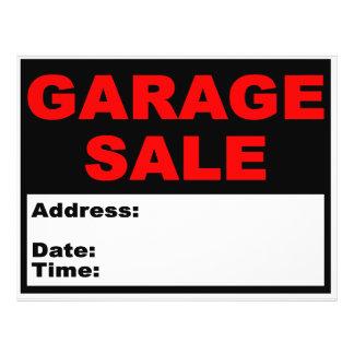 De Vlieger van de garage sale Persoonlijke Folder