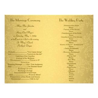 De Vlieger van het Programma van het Huwelijk van Flyer 21,6 X 27,9 Cm