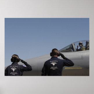 De Vliegers van de Luchtmacht van de V.S. Poster