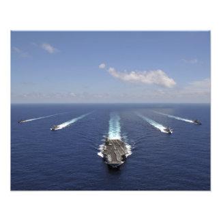 De vliegtuigdrager USS Abraham Lincoln 2 Foto Afdruk