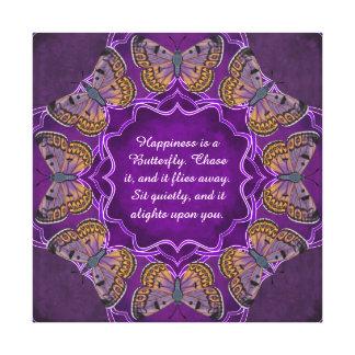 De Vlinder Mandala van het Koper van de kei Canvas Afdruk