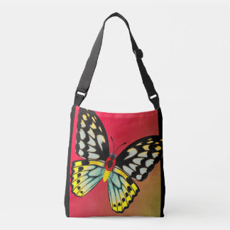 De Vlinder van Birdwing van steenhopen, Dorsaal en Crossbody Tas