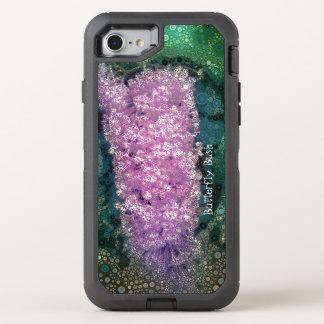 De Vlinder van de Lavendel van het pop-art ringt OtterBox Defender iPhone 8/7 Hoesje
