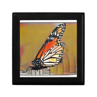 De Vlinder van de monarch Decoratiedoosje