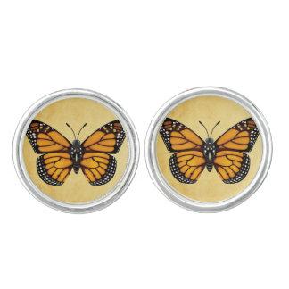 De Vlinder van de monarch Manchetknopen