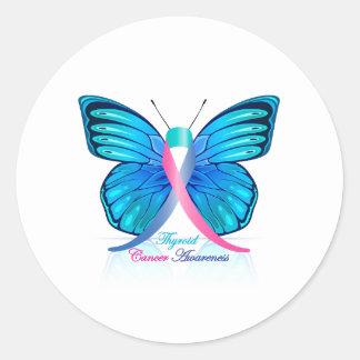 De Vlinder van de schildklier Ronde Sticker