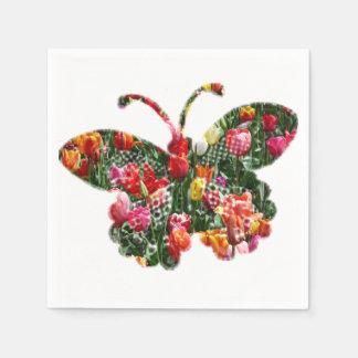 De vlinder van de tulp wegwerp servetten