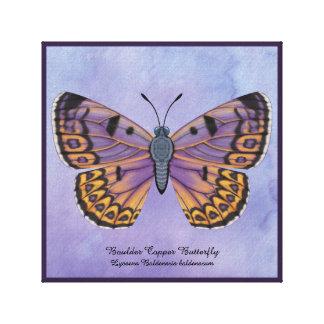 De Vlinder van het Koper van de kei Canvas Afdrukken