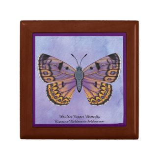 De Vlinder van het Koper van de kei Decoratiedoosje
