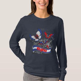 De Vlinder van het Patriottisme van Virginia T Shirt