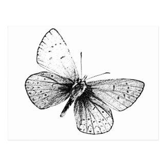 De Vlinder van het pop-art Briefkaart