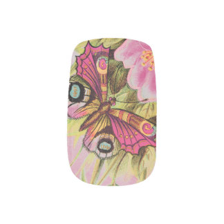 De Vlinder van regenbogen en van Regendruppels Minx Nail Art
