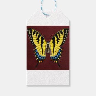 De Vlinder van Swallowtail van de tijger Cadeaulabel