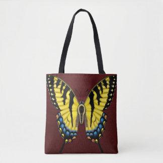 De Vlinder van Swallowtail van de tijger Draagtas