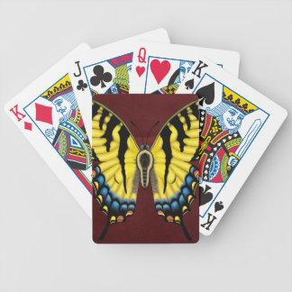 De Vlinder van Swallowtail van de tijger Poker Kaarten