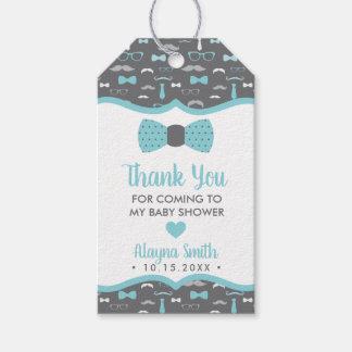 De Vlinderdas dankt u goedkeurt Label, Grijze Cadeaulabel